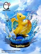 【Preorder】Egg Studio Pokemon Dragonite Three Stages of Evolution Resin Statue's Postcard