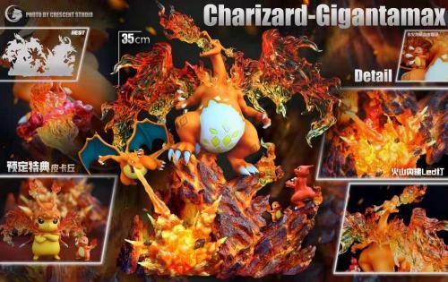 【Preorder】Crescent Studio Pokemon Charizard-Gigantamax Resin Statue's Postcard