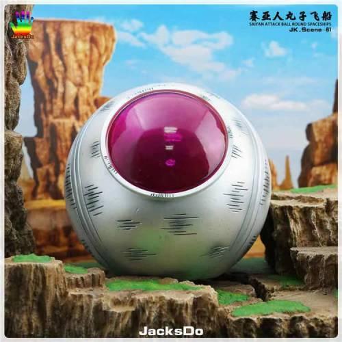 【In Stock】JacksDo Studio Dragon Ball Saiyan Attack Ball Round Spaceships Resin Statue
