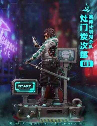 【Preorder】Torch Studio Demon Slayer Cyberpunk Resonance Tanjirou Resin Statue's Postcard
