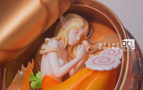 【Preorder】Weart Doing Studio The Mermaid In The Can CORAL Resin Statue's Postcard