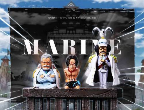【Preorder】YZ Studio x TT Studio ONE PIECE Marine Scene Execution Platform Resin Statue's Postcard