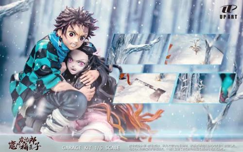 【Preorder】UP Art Studio Demon Slayer Embracing in the Snow Tanjirou&Nezuko Resin Statue's Postcard