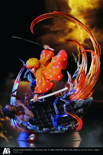 【Preorder】AS Studio Demon Slayer Agatsuma Zenitsu Resin Statue's Postcard