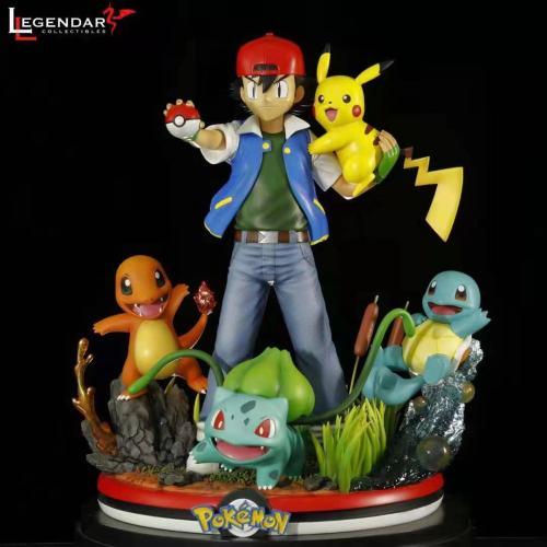 【Preorder】Legendary Collectibles Studio Pokemon Ash Ketchum with His Pokemon Resin Statue's Postcard