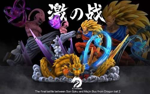 【Preorder】XT Studio Dragon Ball Super Saiyan Goku vs Majin Buu Resin Statue's Postcard