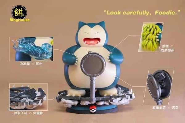 【Preorder】BingHouse Studio Pokemon Foodie Snorlax 2021 Resin Statue's Postcard