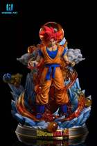 【Preorder】Wonder Art Studio Dragon Ball Super Saiyan Goku Resin Statue's Postcard