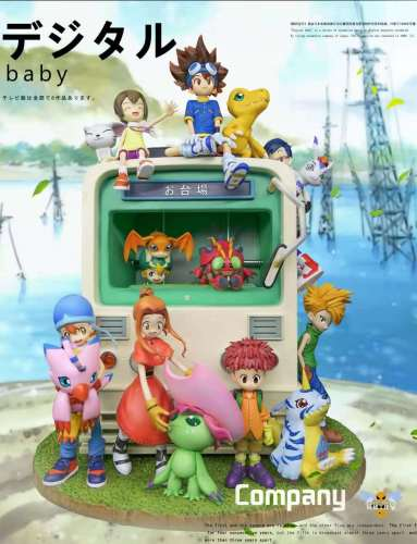 【Preorder】WASP Studio Digimon Adventure Leading Group Family Portraits Resin Statue's Postcard