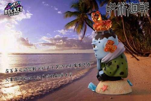 【Preorder】Rocket Studio Jujutsu Kaisen Palm Series Jōgo Resin Statue's Postcard