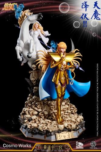 【Preorder】JORSING x COSMO WORKS Studio Gold  Saint Virgo Shaka Resin Statue's Postcard