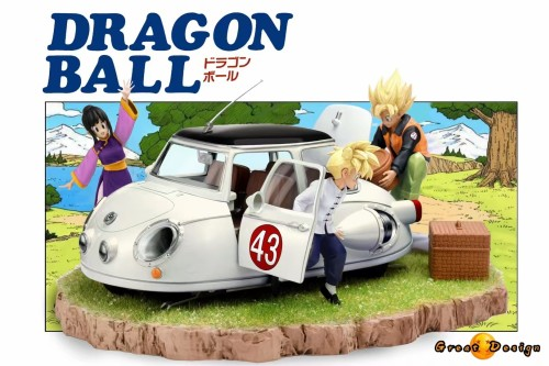 【Preorder】GD Studio Dragon Ball  Goku GIGI Goten motorcycle for a field trip resin statue's post card