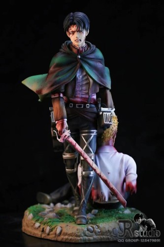 【Preorder】JR Studio Attack on Titan Levi·Ackerman Resin Statue's Postcard