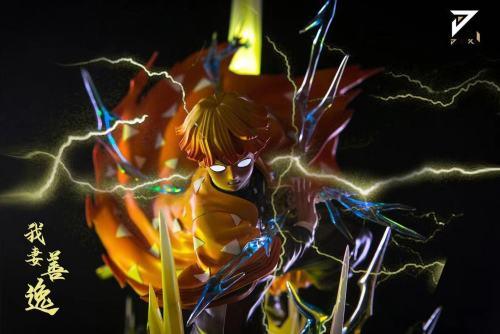 【Preorder】JIANKE Studio Demon Slayer Agatsuma Zenitsu Resin Statue's Postcard