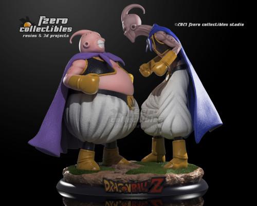 【Preorder】FZero Collectibles Majin Buu VS Evil Buu Resin Statue's Postcard