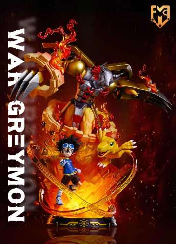【Preorder】MFC Studio Digimon Adventure War Greymon Resin Statue's Postcard