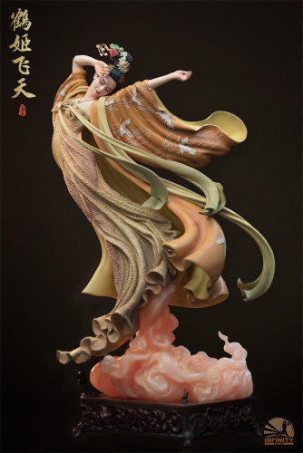 【Preorder】Infinity Studio Crane Fairy Flying Apsaras Resin Statue's Postcard