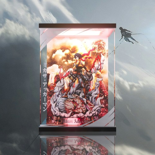 【In Stock】LC Studio Attack on Titan Mikasa·Ackerman resin statue  Acrylic Display Box