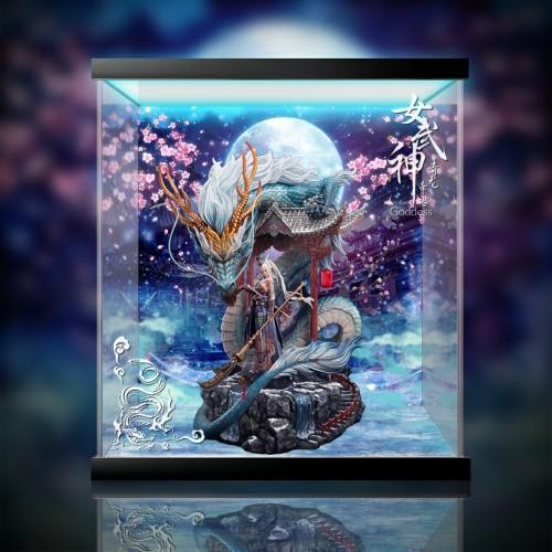 【In Stock】CorePlay Studio Green Dragon Goddess series resin statue  Acrylic Display Box