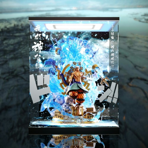 【In Stock】JIMEI Palace ONE PIECE Enel copyright resin statue  Acrylic Display Box