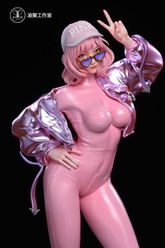 【Preorder】Lingju Studio Pink Girl Resin Statue's Postcard