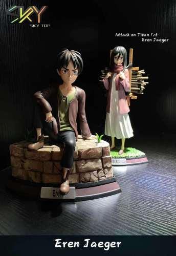 【Preorder】Sky Top Studio Attack on Titan Kid Eren Jaeger Resin Statue's Postcard
