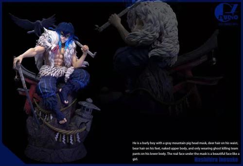 【Preorder】GZ Studio Demon Slayer Hashibira Inosuke Resin Statue's Postcard