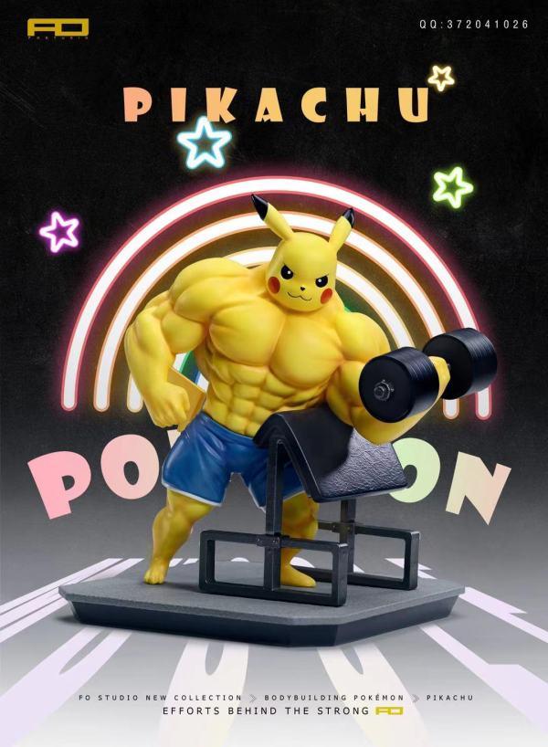 【Preorder】FO Studio Pokemon Fitness Pikachu Resin Statue's Postcard