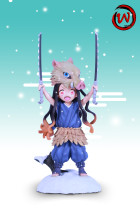 【Preorder】W-Studio Demon Slayer Nezuko Cosplay Hashibira Inosuke Resin Statue
