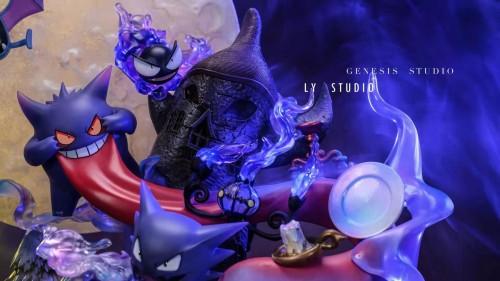 【Preorder】LY Studio x Genesis Pokemon Gengar Family Round Midnight Resin Statue