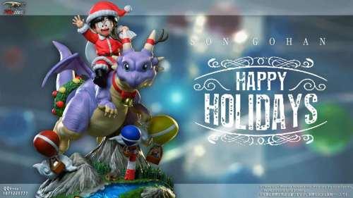 【Preorder】T-Rex Studio Dragon Ball Riding a Dragon Goku Christmas Edition Resin Statue