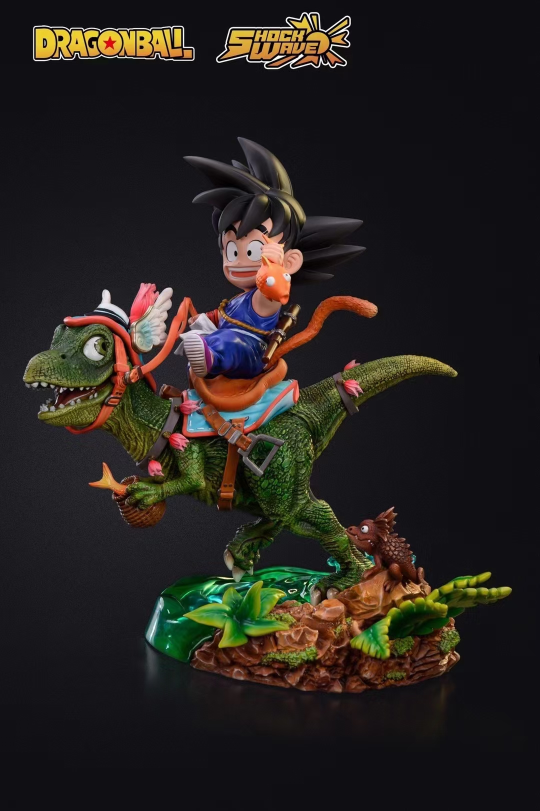 【Preorder】Shock Wave Studio Kid Goku  Riding a Dinosaur Resin Statue