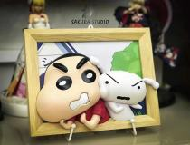 【Preorder】SAKURA Studio Crayon Shin-chan & Little white dog Photo Fame