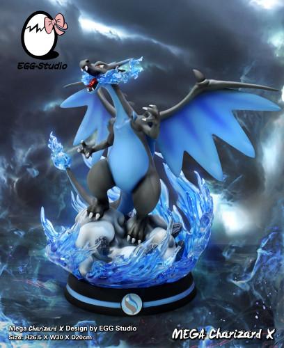 【Preorder】Egg Studio Pokemon mega Charizard X Resin Statue