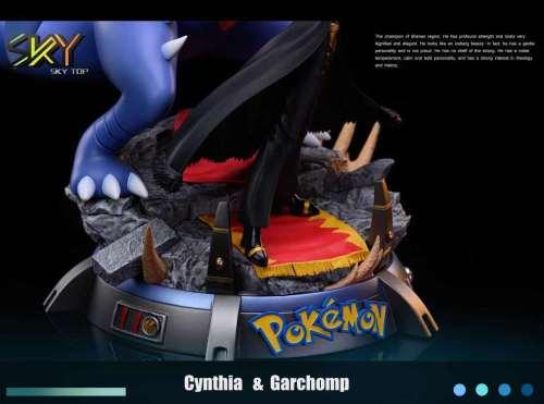 【Preorder】Sky Top Studio Pokemon Cynthia & Garchomp Resin Statue
