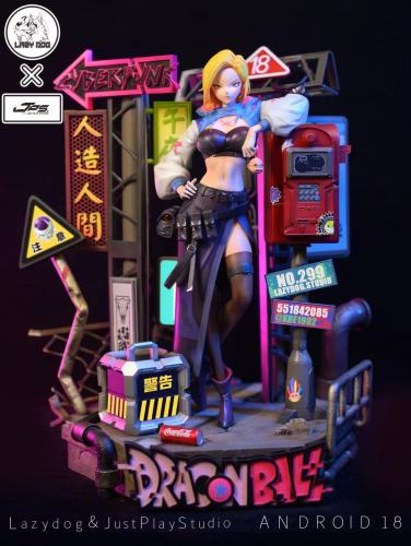 【Preorder】Lazydog Studio x JPS Studio Dragon Ball Android 18 Sabpunk Series Resin Statue