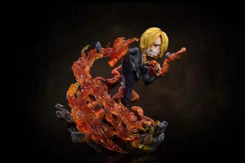 【Preorder】G5 Studio x FIVE Studio ONE PIECE Devil wind feet Sanji & Combat suit Sanji Resin Statue