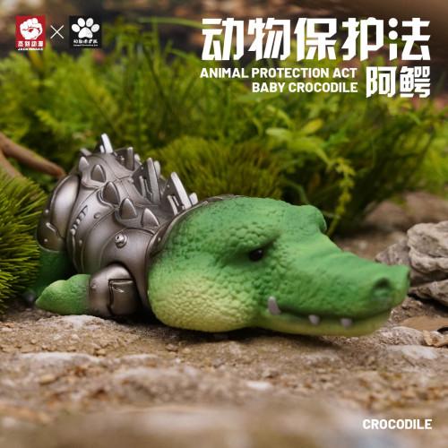 【In Stock】JacksMake Animal Protection Law Series BABY Crocodile Resin Statue