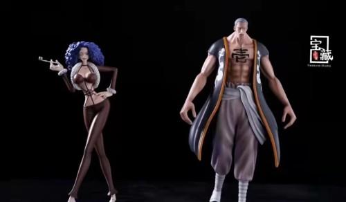 【In Stock】Treasure-Studio One Piece MR1 Zala Miss Merry Christmas Drophy&Mr.4  Resin Statue