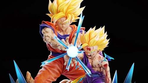 【Preorder】KD Studio Dragon Ball Cell Shockwave&Goku Gohan Shockwave 1/4 resin statue