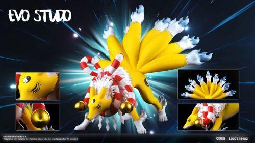 【Preorder】Evo studio Digimon 03 King of Beast Trainer Kyubimon Resin Statue