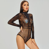 Sexy Bikini Jumpsuit with Diamond For Cosplay Uniform