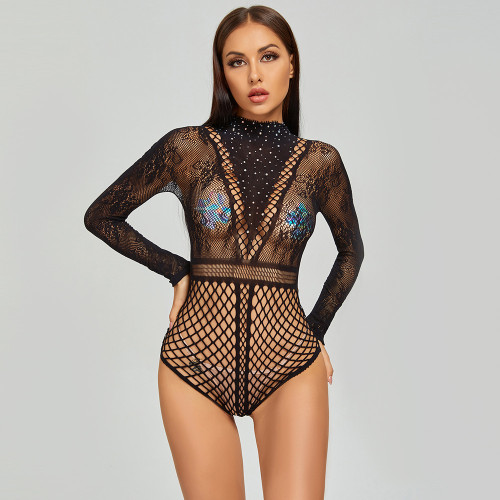 Sexy Bikini Jumpsuit with Diamond For Cosplay Uniform
