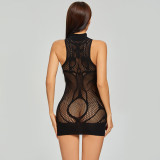 Hip Skirt with Eexquisite Bodysuit For Charming  Black