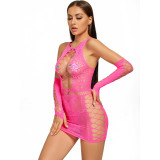 Desire Sexy Hip Skirt with Axial Fishnet and Oversleeve