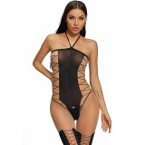 2021 New Sexy Jumpsuit with Stockings and Camisole Black