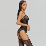 2021 New Sexy Jumpsuit with Camisole Smoothness Black