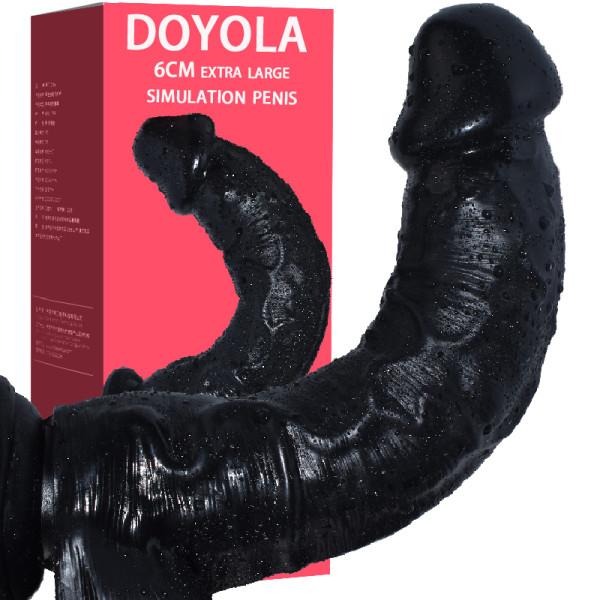 Large Thick Imitation Phallus Manual Masturbation Sex Toys for Female Orgasm