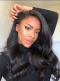 Peruvian Virgin Hair Body Wave Lace Front Wigs