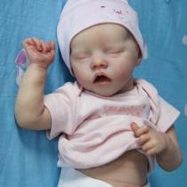 Réaliste Bebe Reborn Fille Reborn poupée bébé Souple 17 Pouces Simulation Nouveau-né Jouet Réalité Fille Cadeau de noël